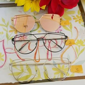 Accessories - NYS New York, wire fashio metal cat eye sunglasses